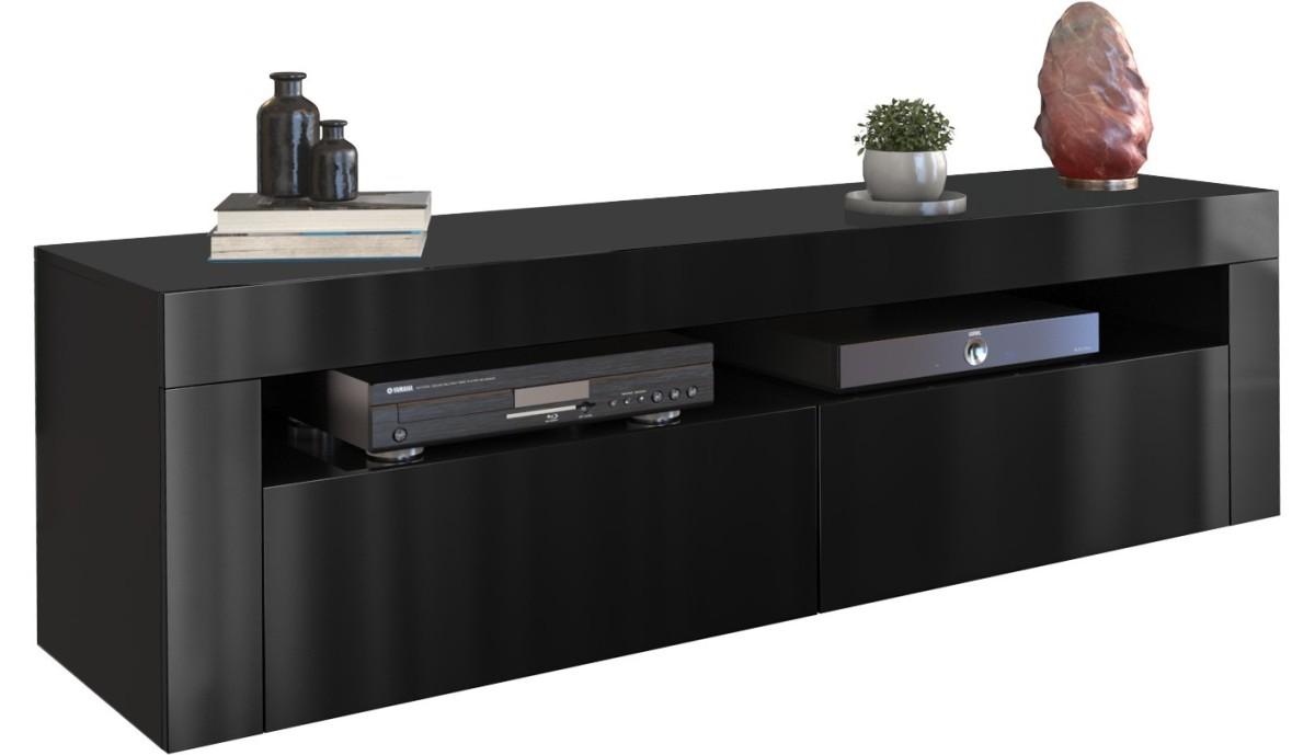 Shoptop TV Stolek DEKO 160 cm černý lesklý
