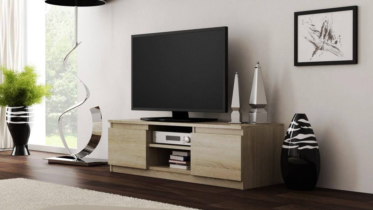 Shoptop TV stolek RTV LCD 120 světlý dub