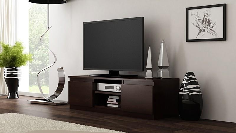 Shoptop TV stolek RTV LCD 120 tmavě hnědý