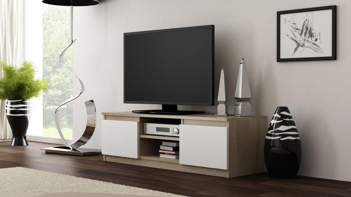 Shoptop TV stolek RTV LCD 120 světlý dub, bílý