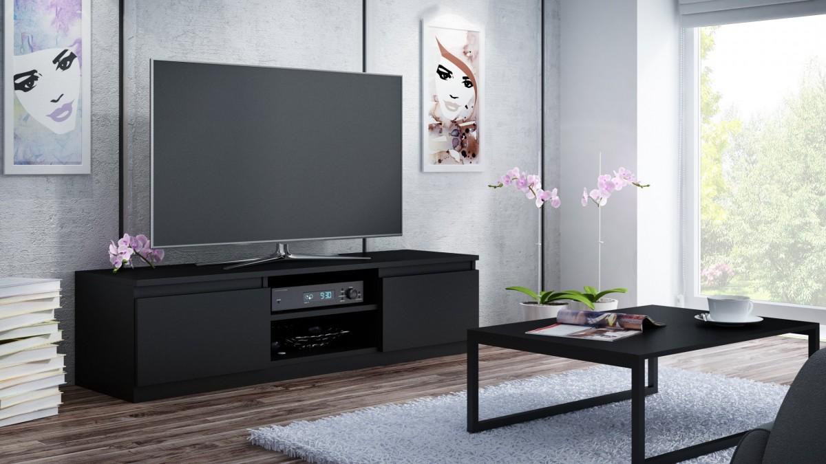 Shoptop TV stolek Lada 120CM černý