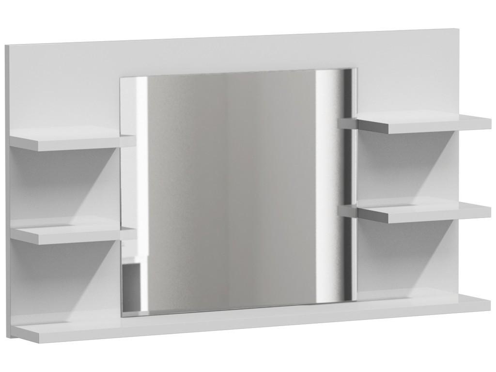 Shoptop Koupelnová polička se zrcadlem LUMO L5 bílá mat