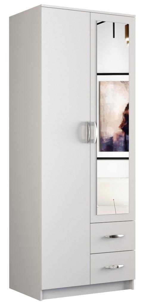 Shoptop Šatní skříň ROMANA 80cm bílá