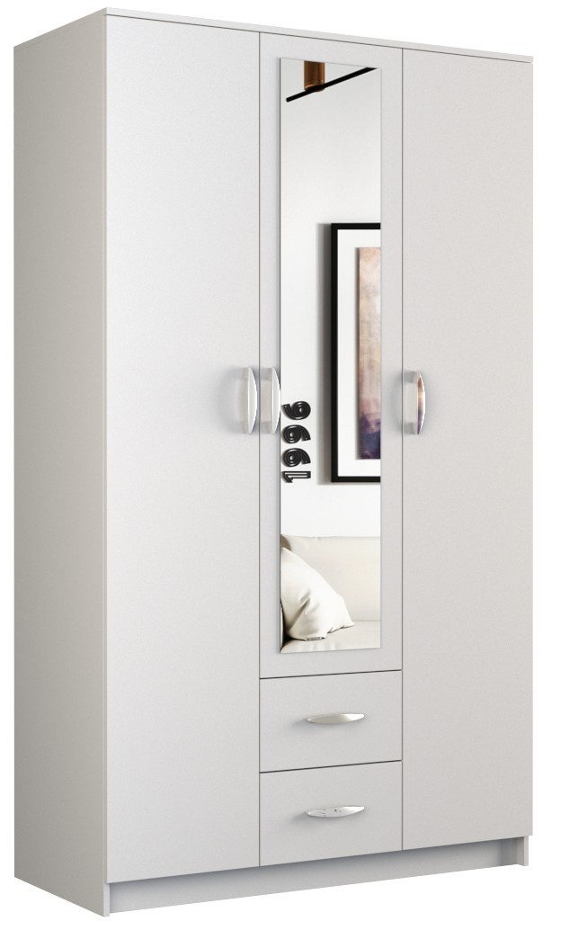 Shoptop Šatní skříň ROMANA 120cm bílá