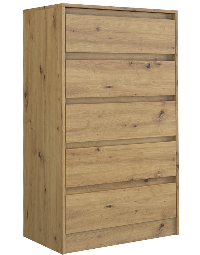Shoptop Komoda KARO 124 cm hnědá