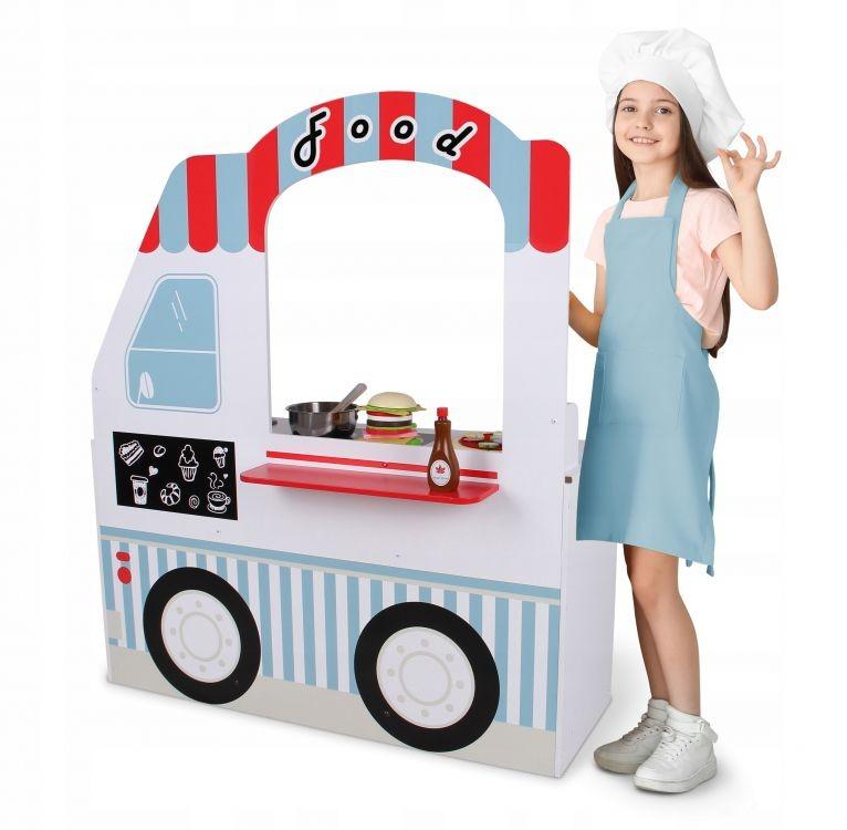 Dřevěná kuchyňka pro děti EcoToys Food Truck