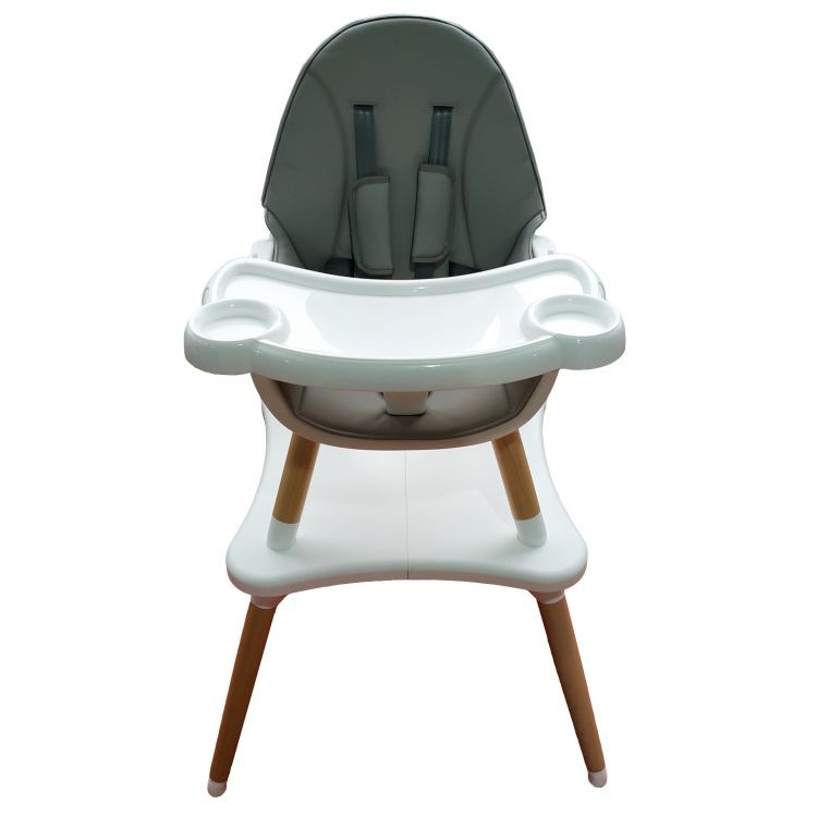 Dětská jídelní židlička EcoToys 2v1 KONFIG šedá