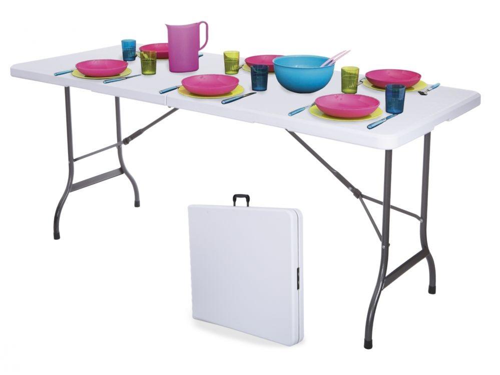 GOODHOME Skládací zahradní stůl Mája 180cm