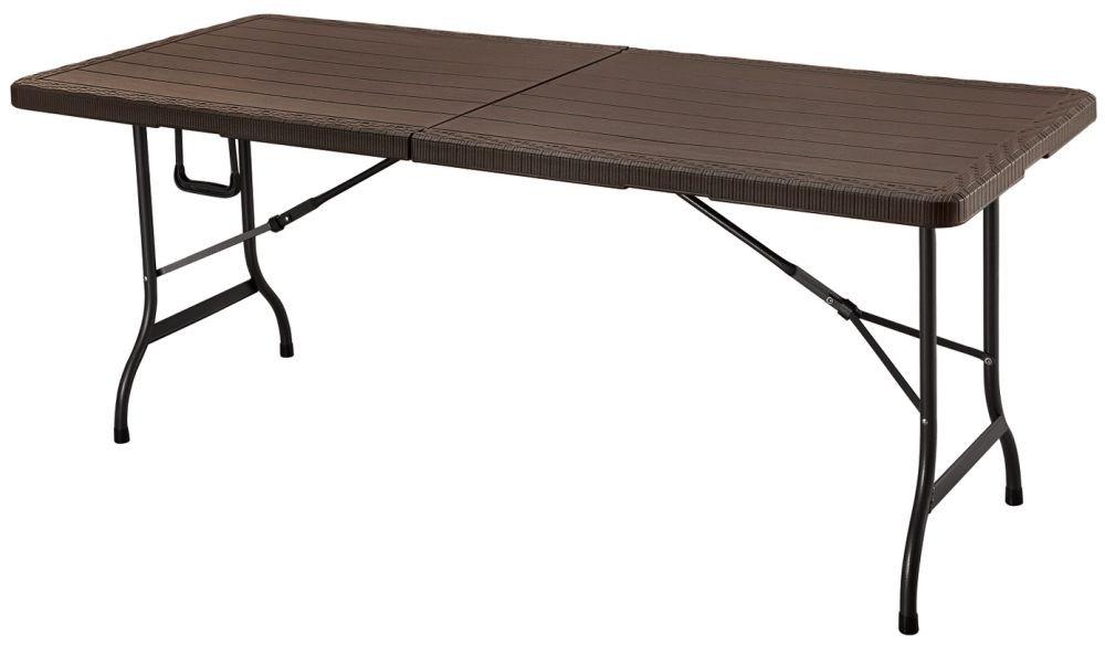 MODERNHOME Zahradní stůl Petra - hnědý