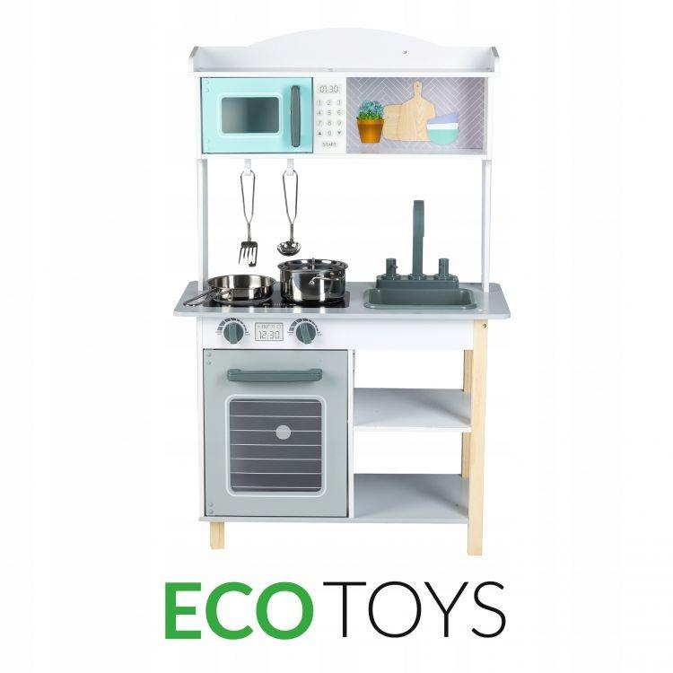 ECOTOYS Dřevěná kuchyně s příslušenstvím Eco Toys