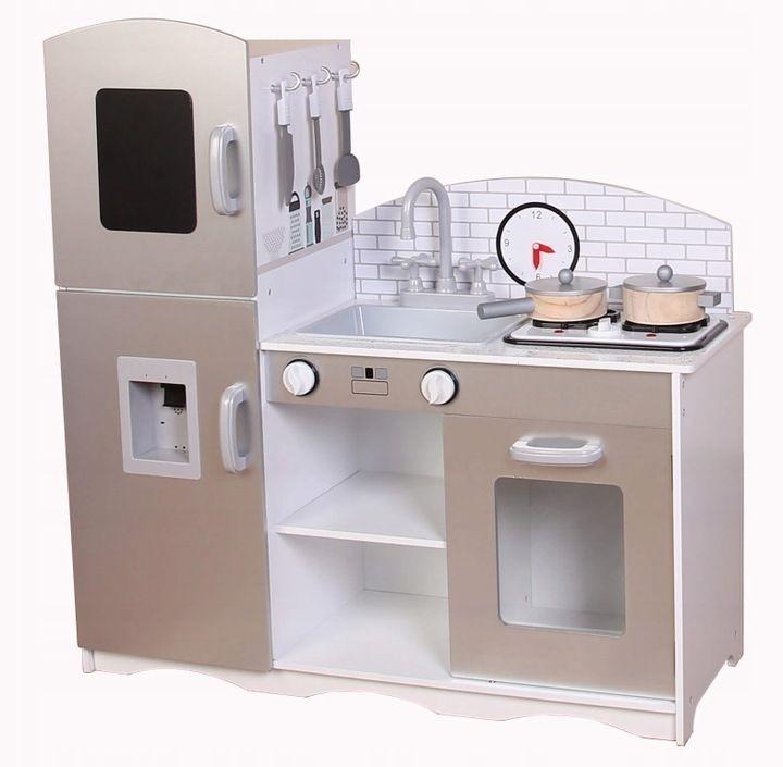 ECOTOYS Dřevěná kuchyňská linka se sporákem XXL Eco Toys