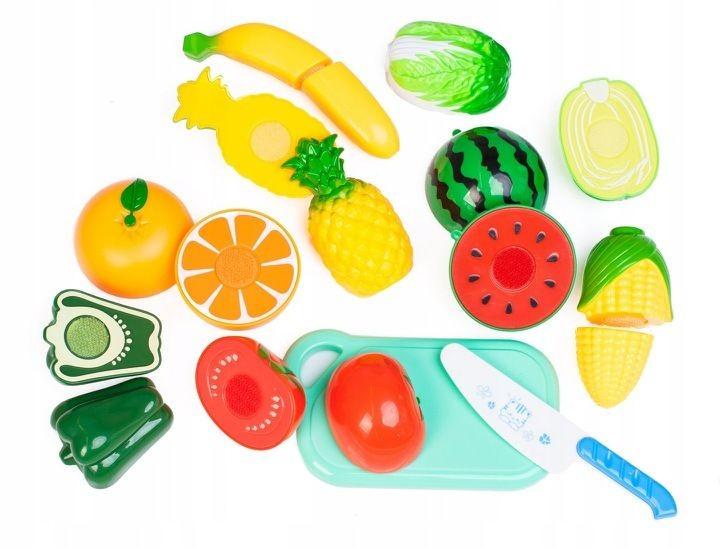 MULTISTORE Plastová sada ovoce+zelenina+deska+nůž