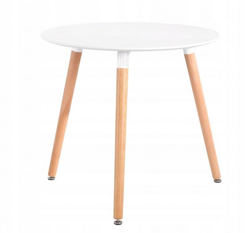 GOODHOME Jídelní stolek 60cm Noah bílý