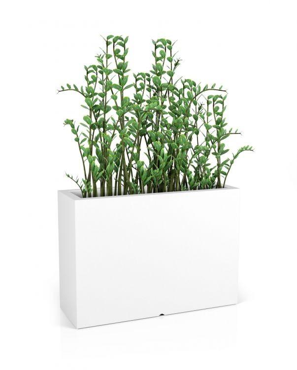 MONUMO Květináč Longerino s osvětlením bílý