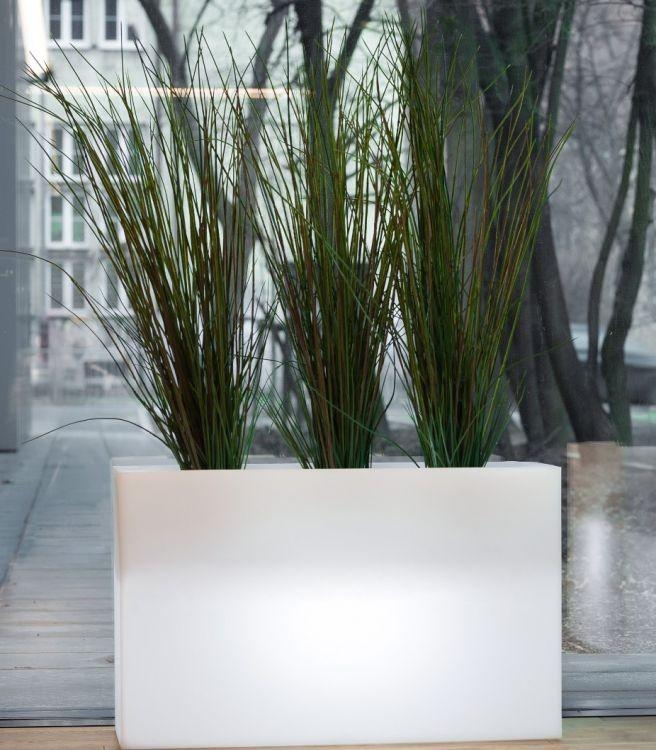 MONUMO Květináč Lungo Maxi s osvětlením bílý