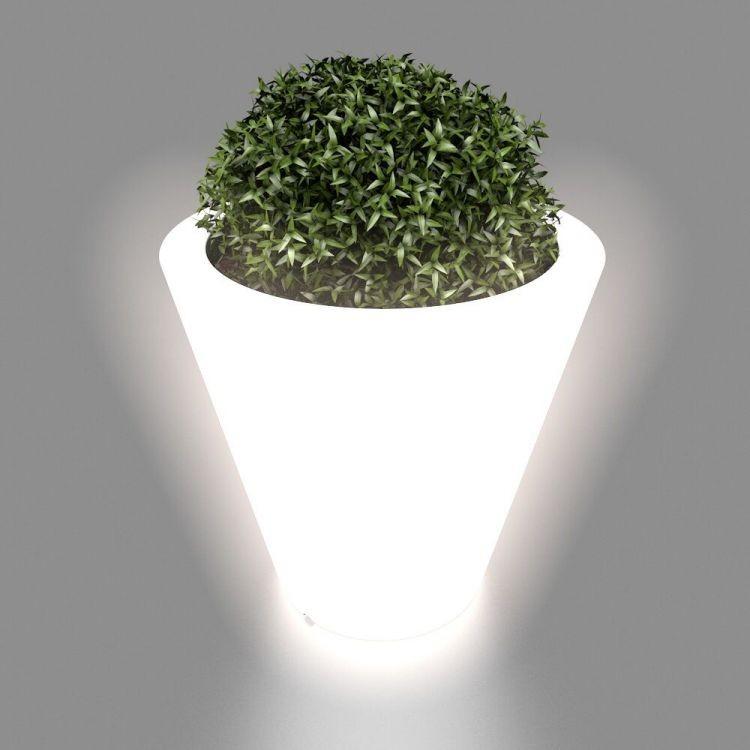 MONUMO Květináč Ovo s osvětlením bílý