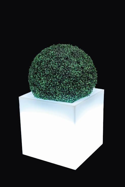 MONUMO Květináč Pixel Pot s osvětlením bílý