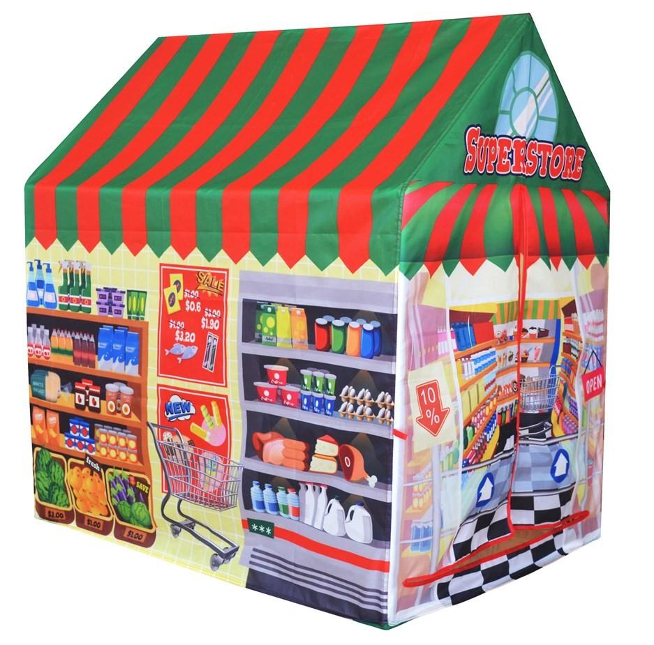 IPLAY Dětský stan Supermarket EcoToys