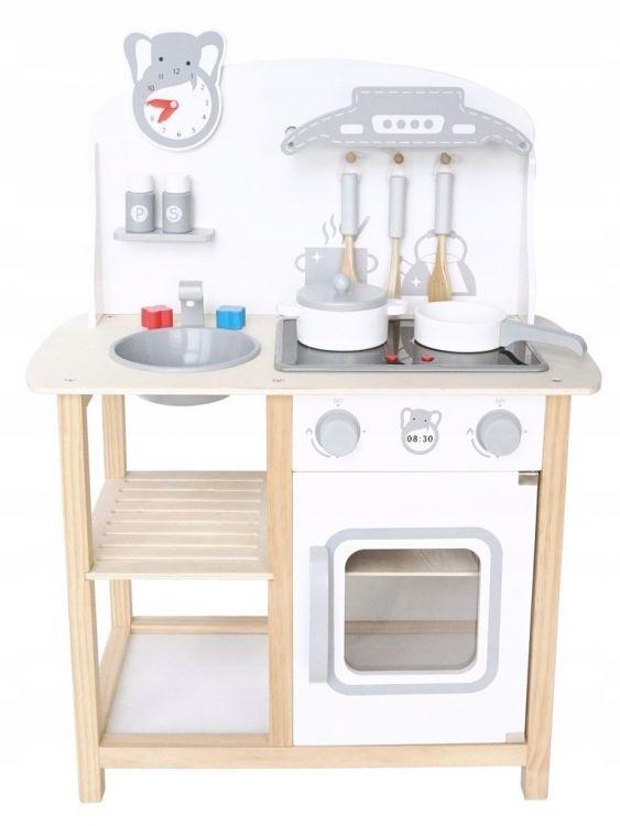 Dřevěná kuchyňka pro děti s efekty a doplňky EcoToys
