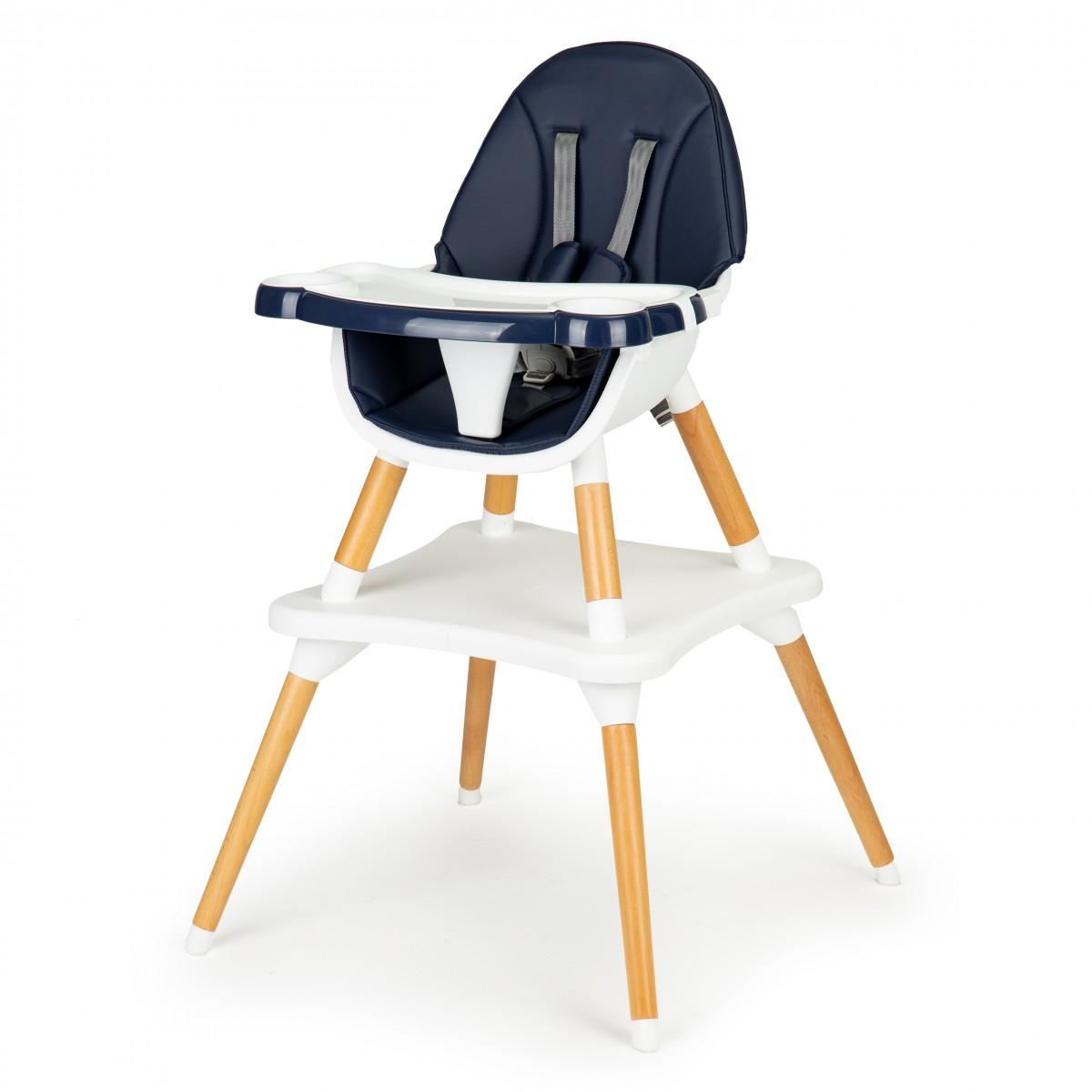 Dětská jídelní židlička 2v1 Alva EcoToys modrá