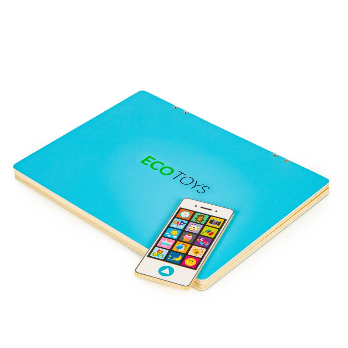ECOTOYS Dětský edukační laptop TWIGY modrý