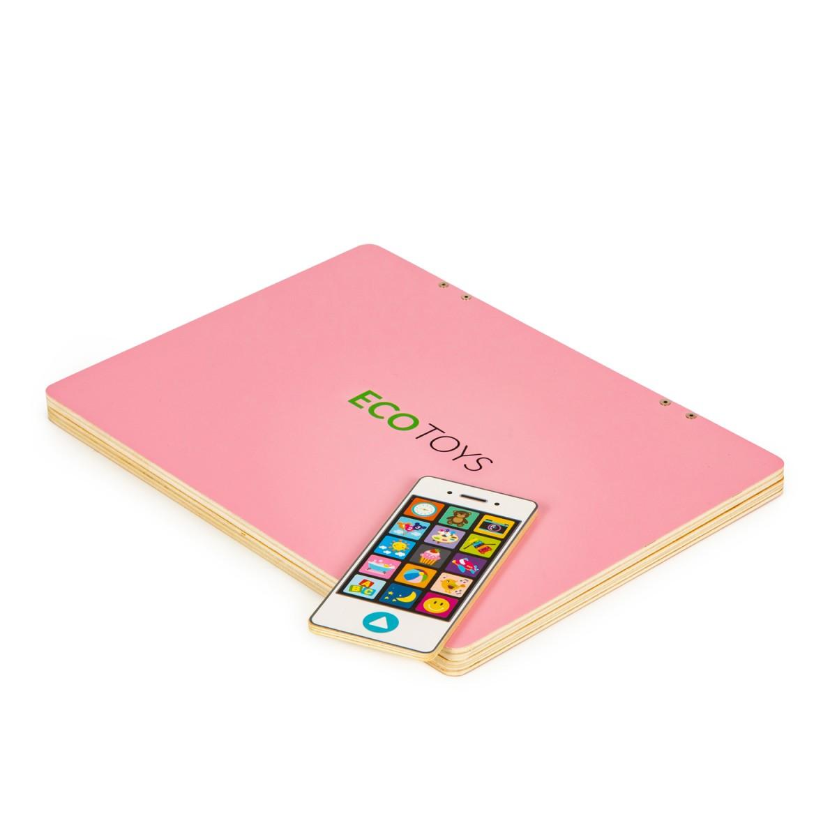 ECOTOYS Dětský edukační laptop TWIGY růžový
