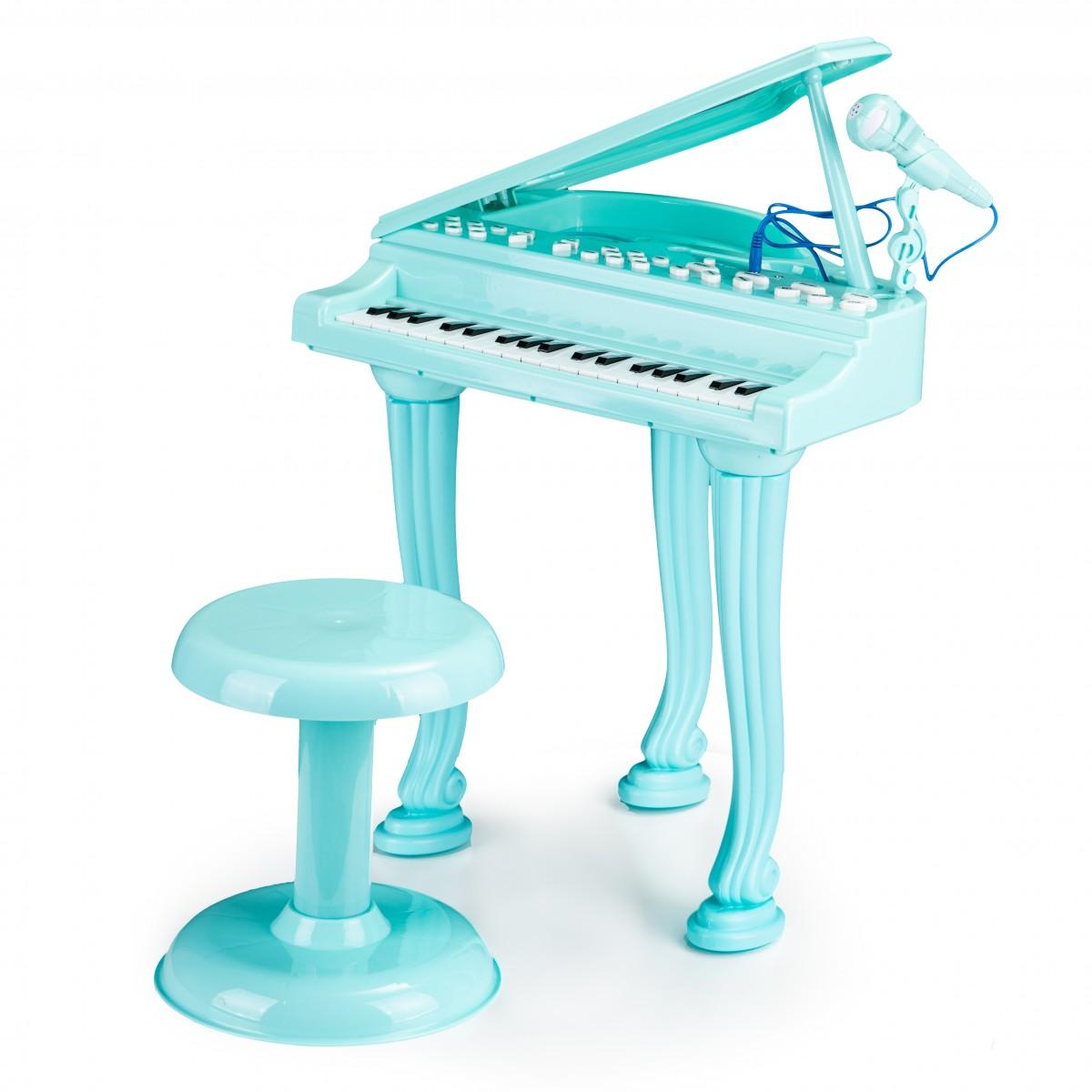 MULTISTORE Dětské piano s mikrofonem Tinny modré