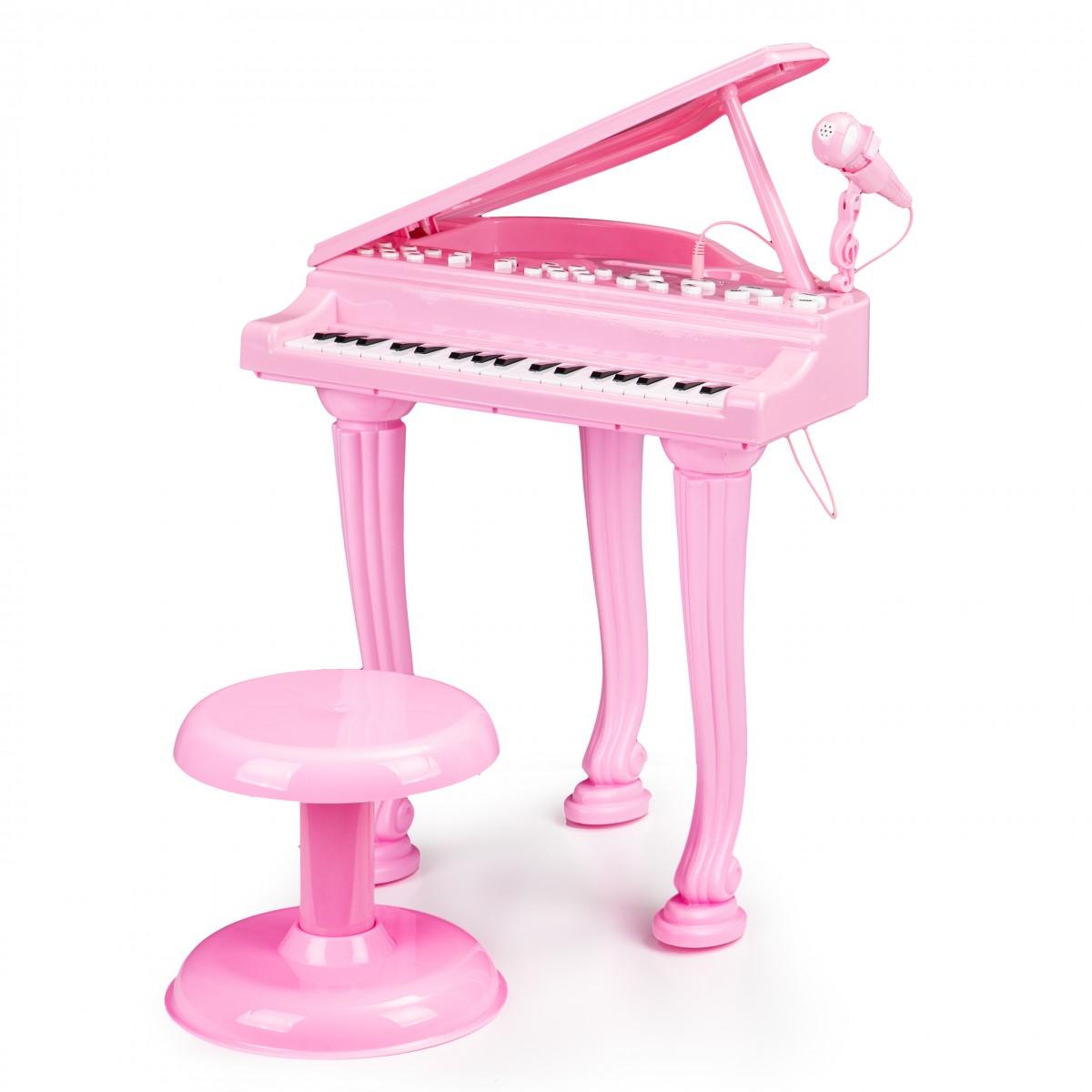 MULTISTORE Dětské piano s mikrofonem Tinny růžové