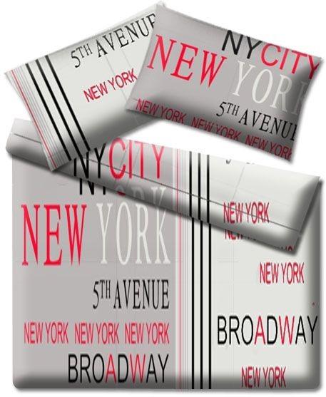 Scandi Bavlněné povlečení New York Avenue 200x220cm + 2 povlaky na polštáře