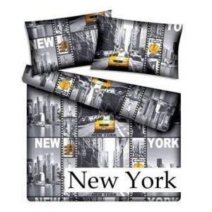 Scandi Bavlněné povlečení New York 200x220cm + 2 povlaky na polštáře