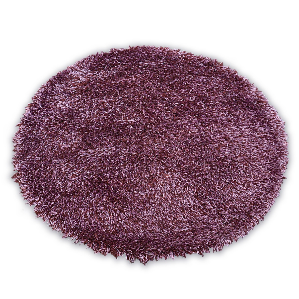 3kraft Kulatý koberec LOVE SHAGGY fialový