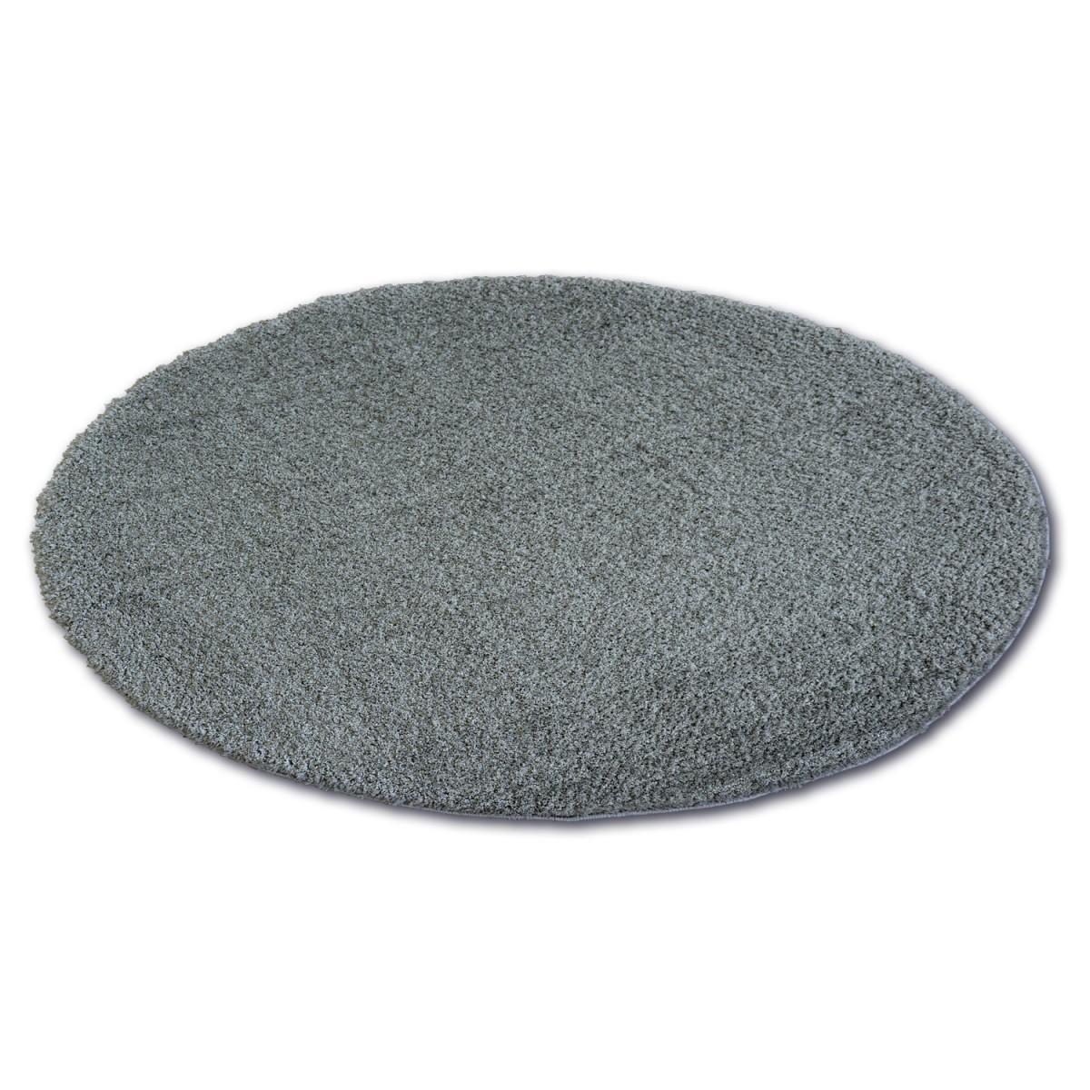 3kraft Kulatý koberec SHAGGY MICRO antracitový