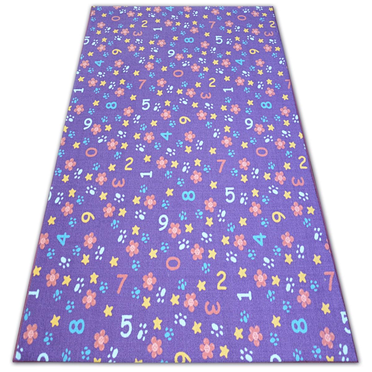 3kraft Dětský kusový koberec NUMBERS fialový