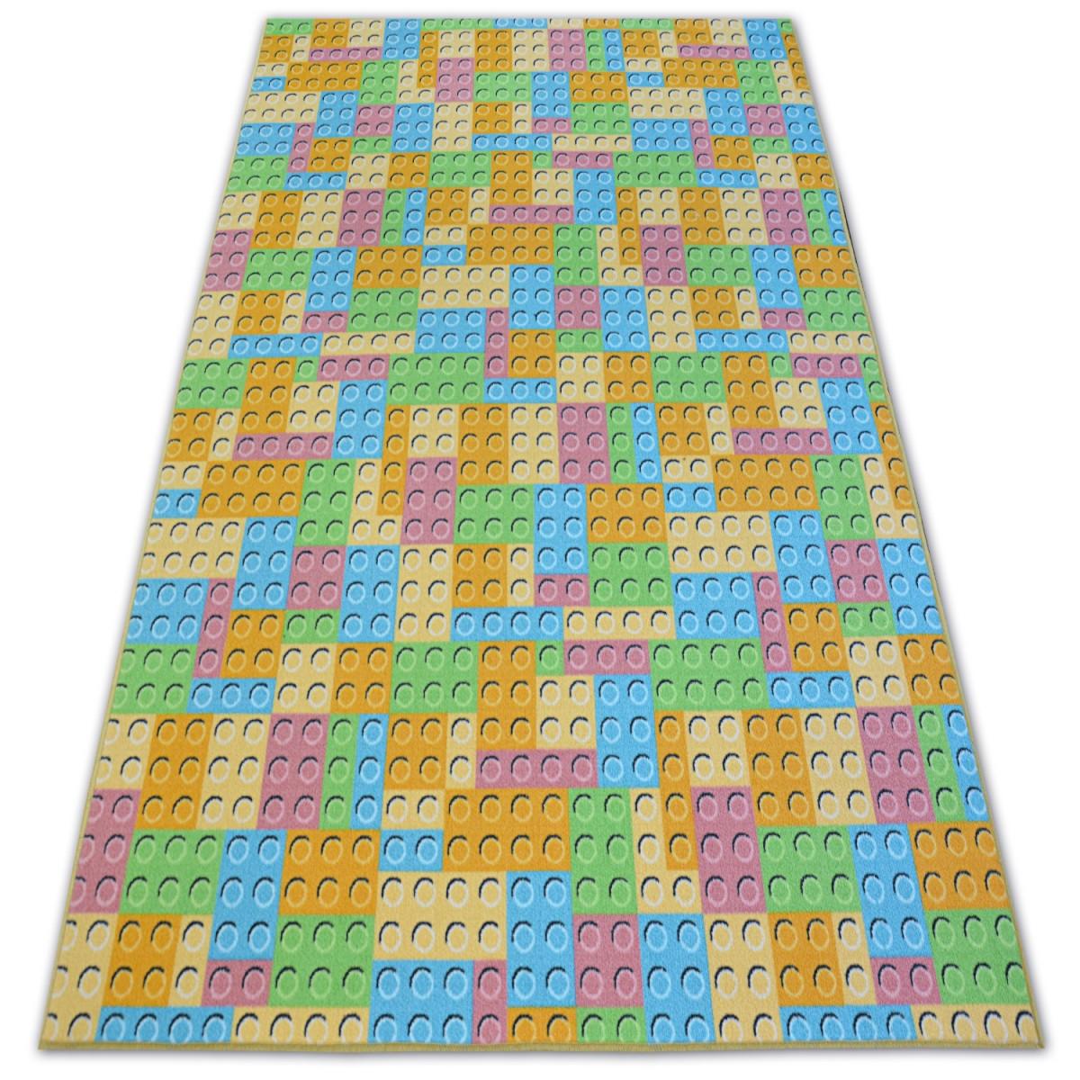 3kraft Dětský kusový koberec LEGO zelený