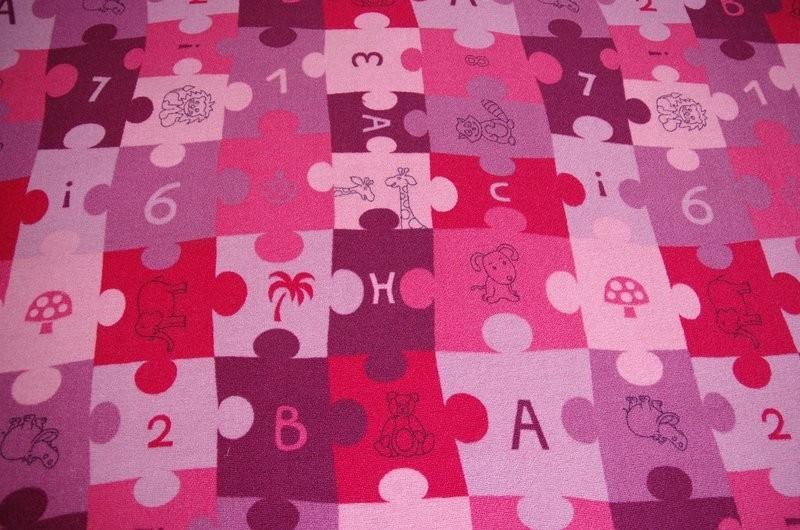 3kraft Dětský koberec PUZZLE fialový