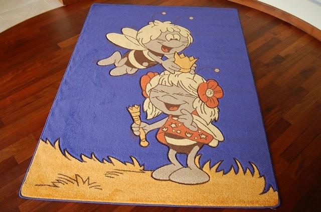 3kraft Dětský koberec VČELKA MÁJA modrý