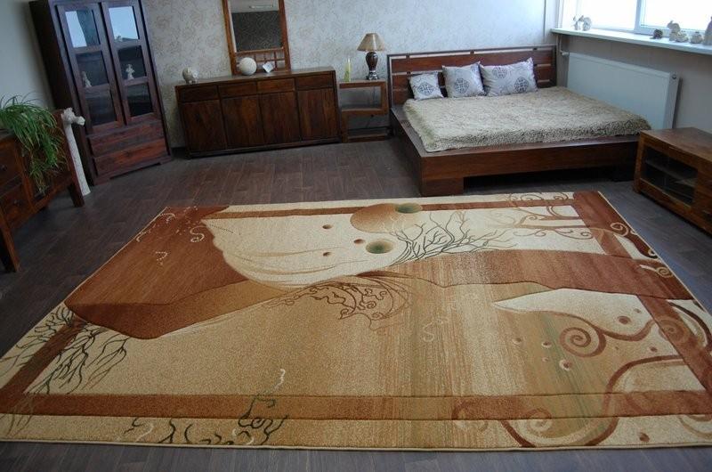 3kraft Kusový koberec HEAVEN hnědý