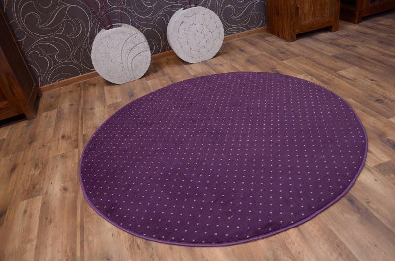 3kraft Kulatý koberec AKTUA Breny fialový