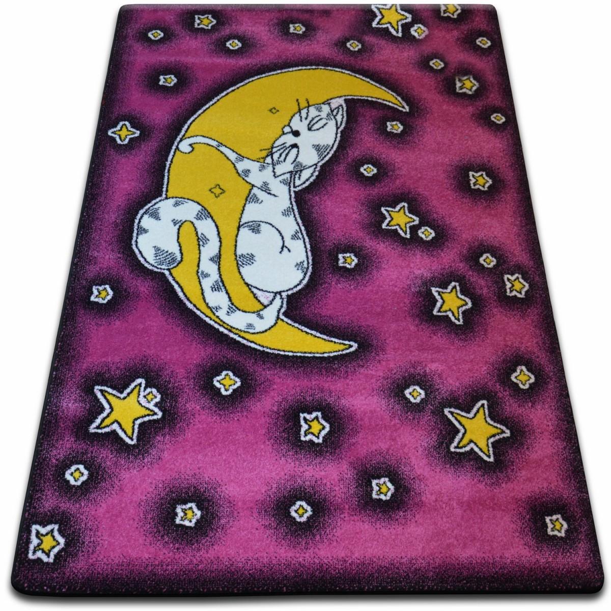 Levně 3kraft Kusový koberec KIDS kočka růžový C414