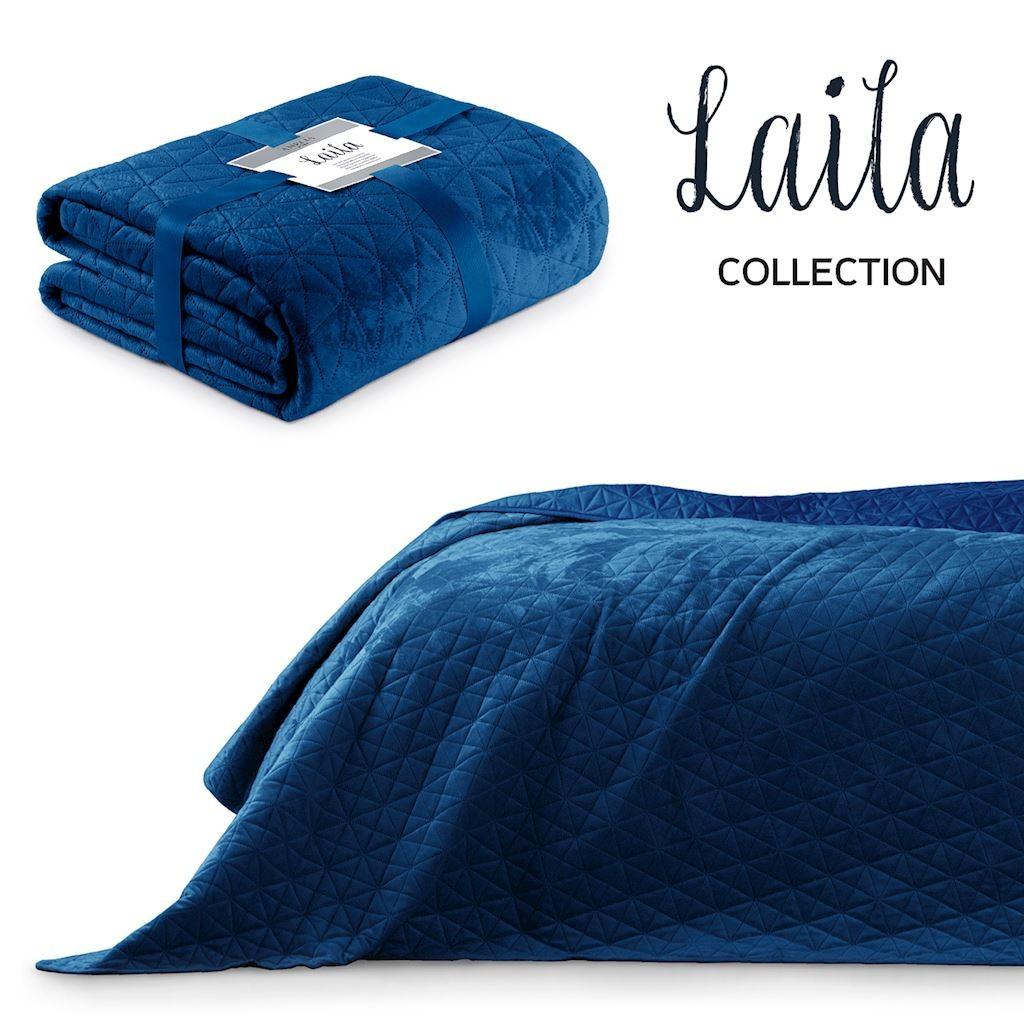 Přehoz na postel AmeliaHome Laila modrý