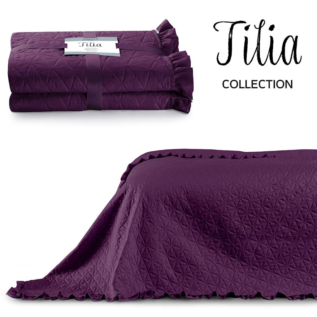 Přehoz na postel AmeliaHome Tilia fialový