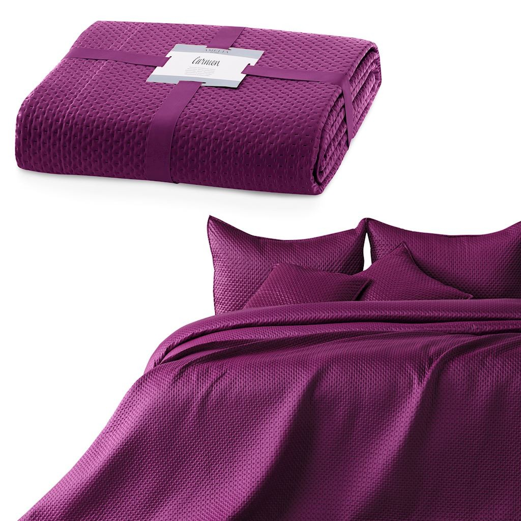 AmeliaHome Přehoz na postel Carmen fialový