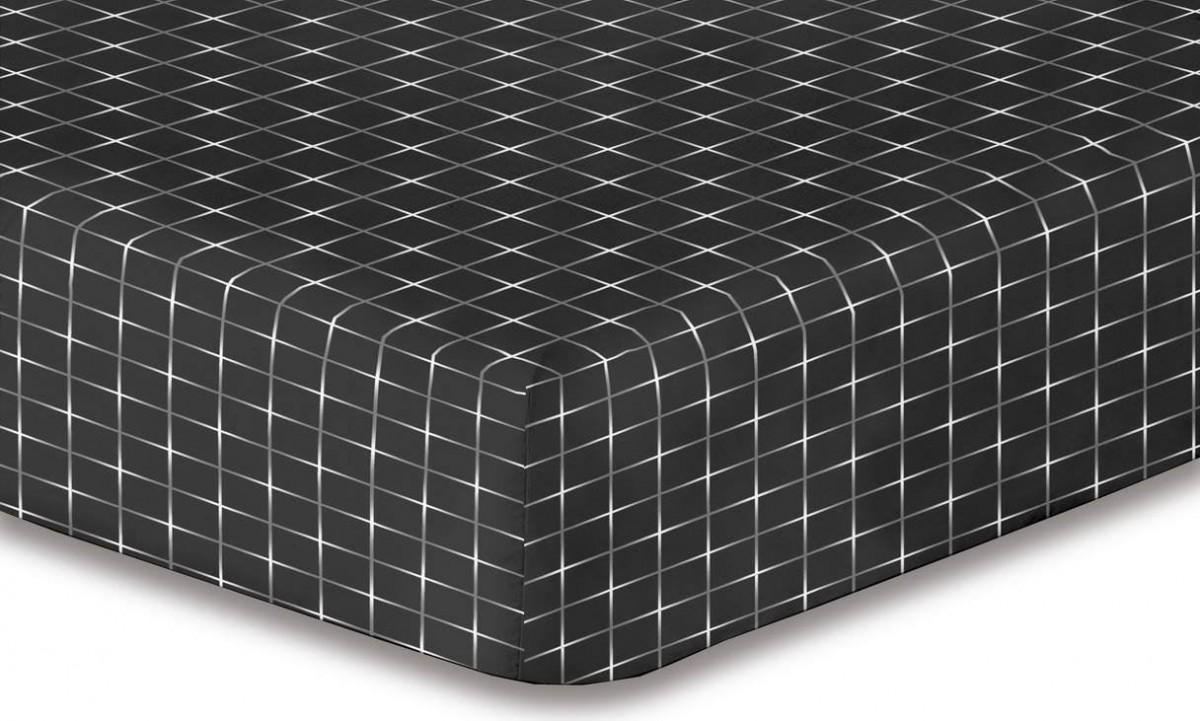 Prostěradlo z mikrovlákna DecoKing Hyprot černo-bílé