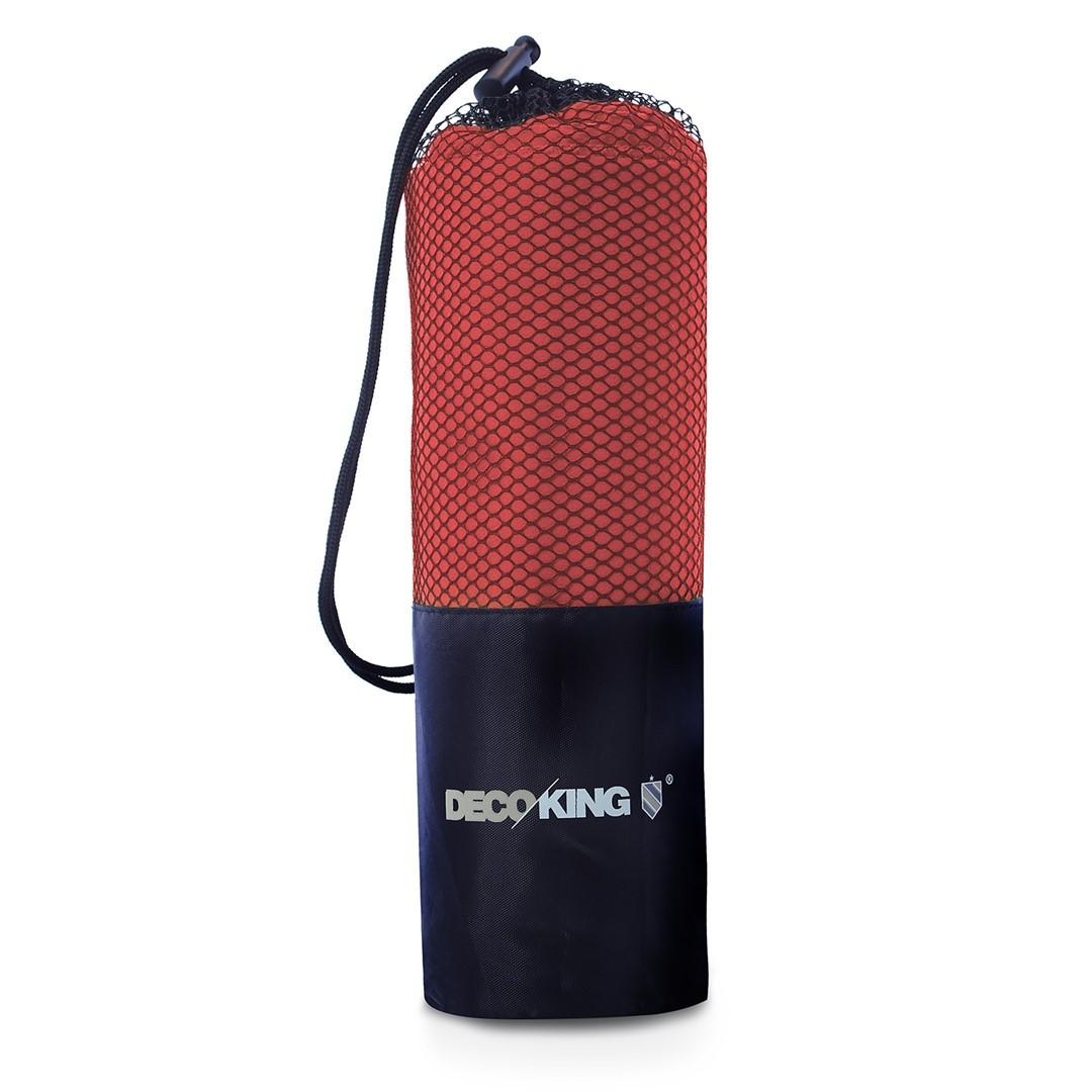 Sportovní ručník z mikrovlákna DecoKing Ekea tmavě červený