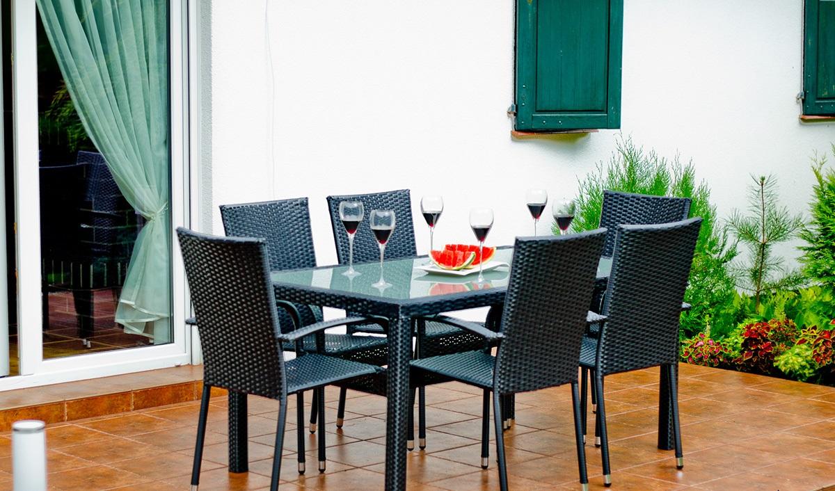 Bello Giardino Sada zahradního nábytku AVVICENTE černá
