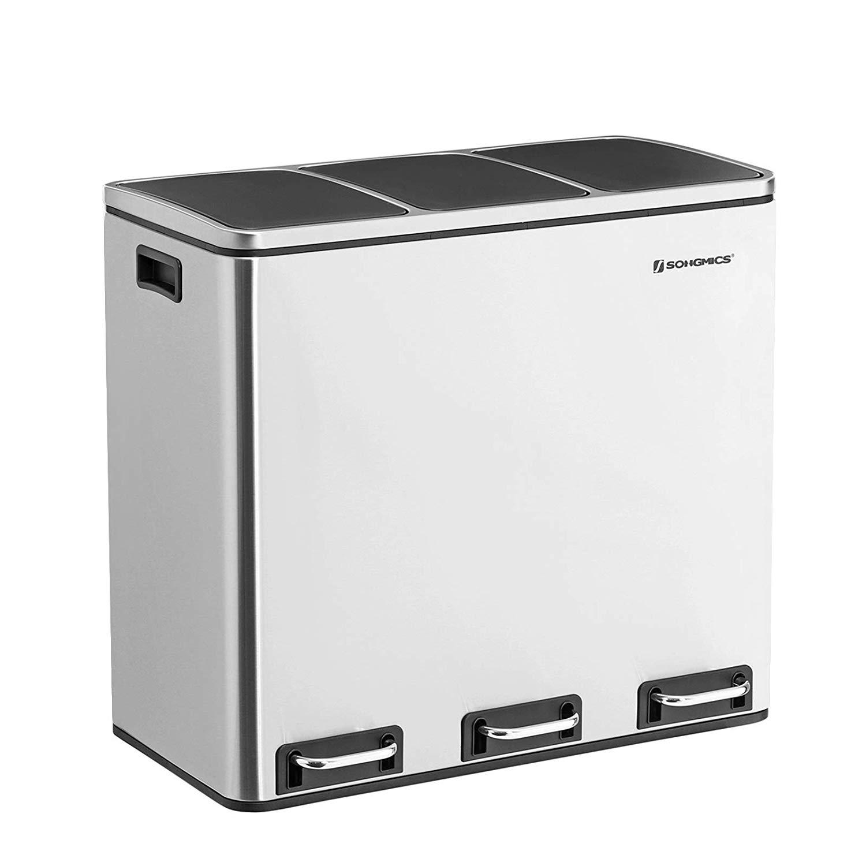 Rongomic Odpadkový koš 3x18L (54L) stříbrný