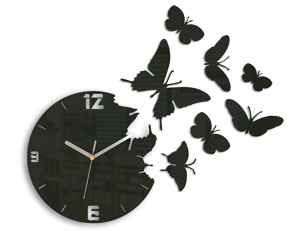 Mazur 3D nalepovací hodiny Butterfly wenge