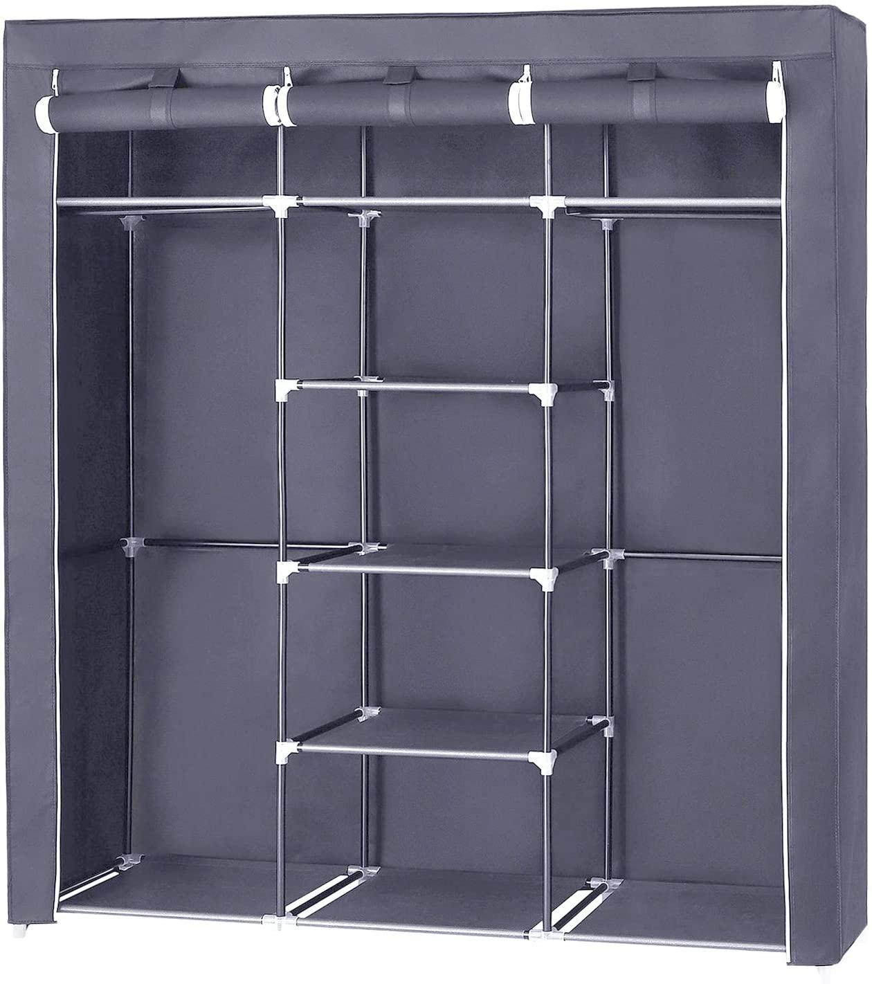 Rongomic Textilní šatní skříň SEAN šedá