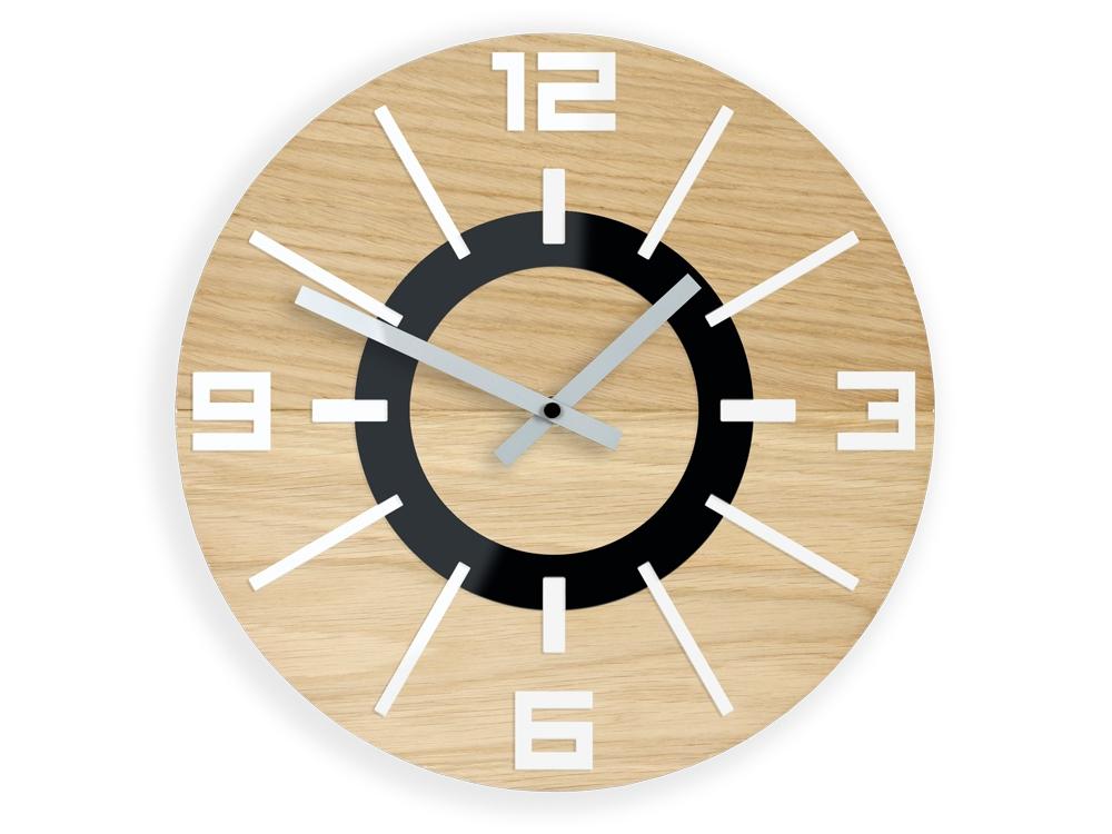 Mazur Nástěnné hodiny Alladyn Wood hnědé