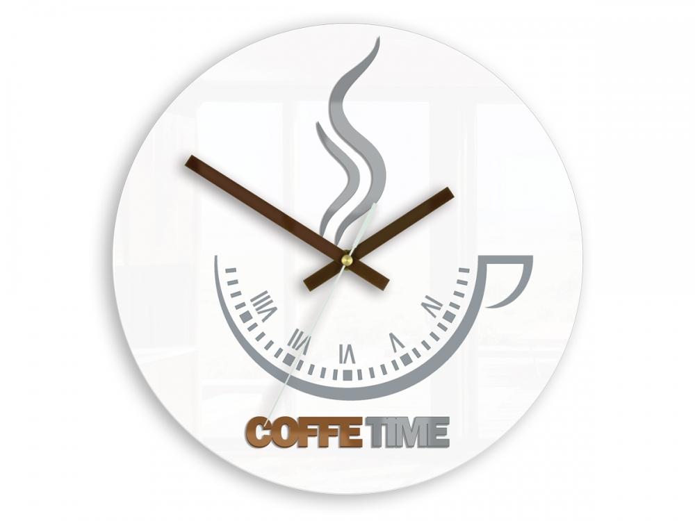 Mazur Nástěnné hodiny Coffe Time bílé